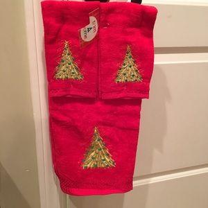 Christmas towel set
